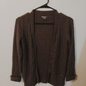 Cable knit eddie bauer cardigan